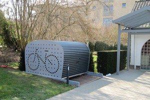 fiets opbergen tuin